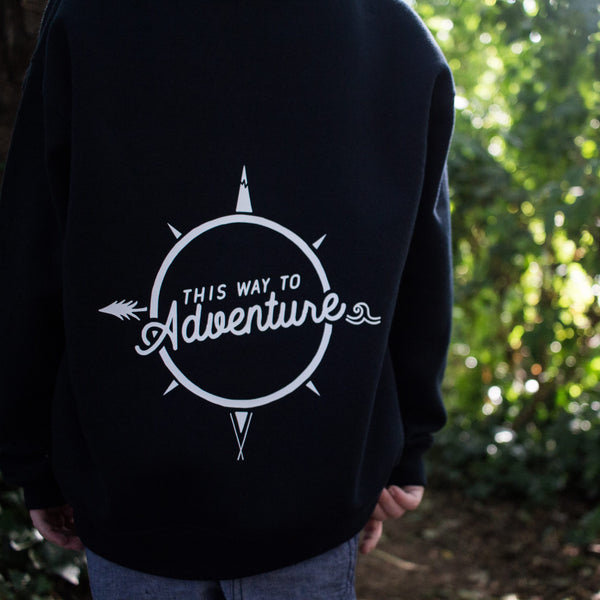 This Way to Adventure Compass Zip Up Hoody