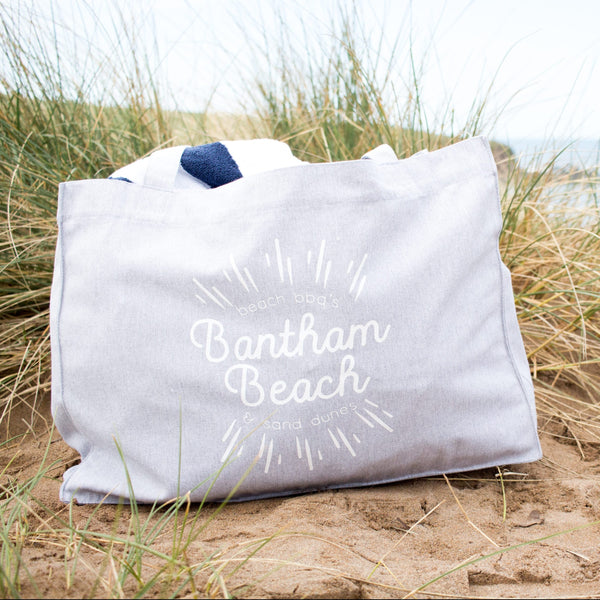 Personalised Favourite Beach Large Beach Bag