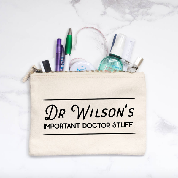 Personalised 'Important Doctor/Nurse Stuff' Pencil Case
