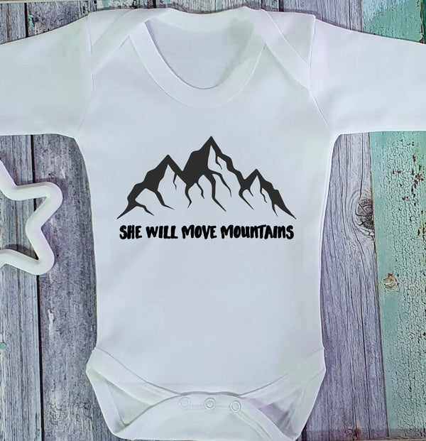 Move Mountains Babygrow/Sleepsuit