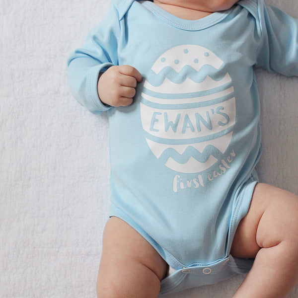Personalised Baby's First Easter Bodysuit
