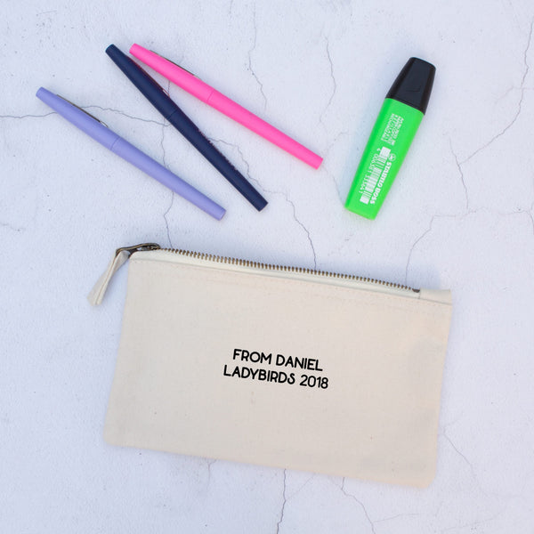 Personalised 'Important Teacher Stuff' Pencil Case