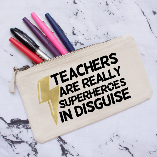 Superhero Teacher Pencil Case