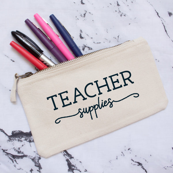 Personalised Teacher Supplies Pencil Case
