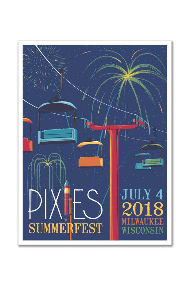 Pixies 7/4/2018 Milwaukee, WI Event Poster