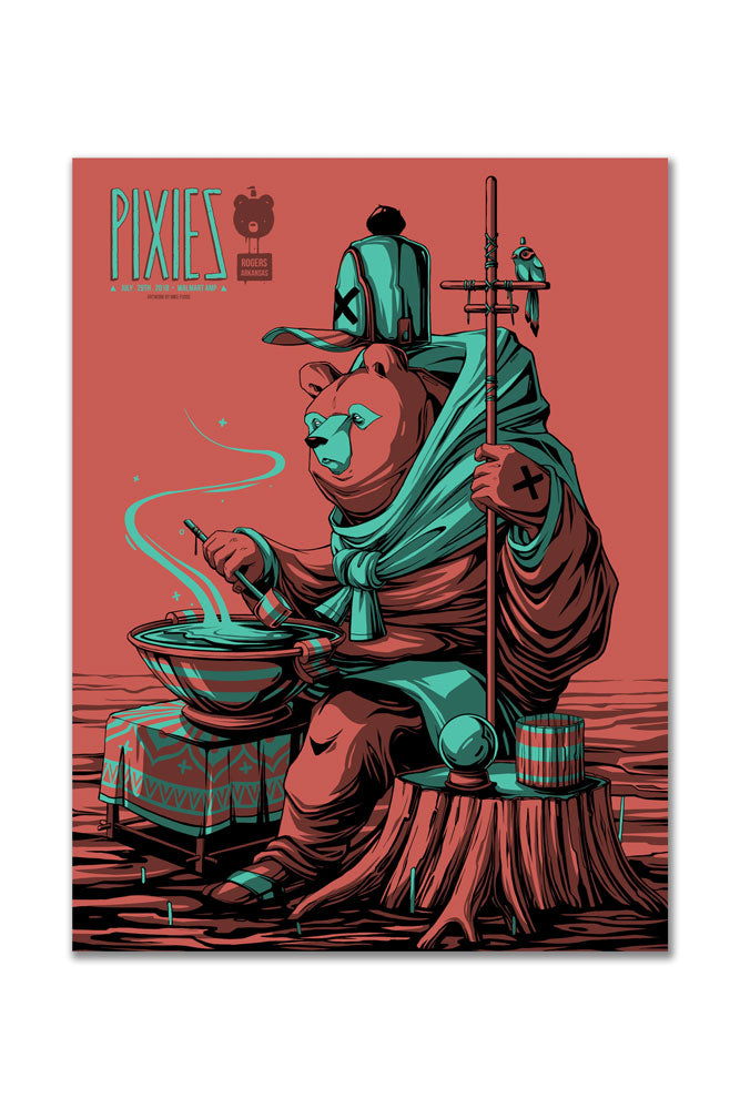 Pixies 7/29/2018 Rogers, AR Event Poster