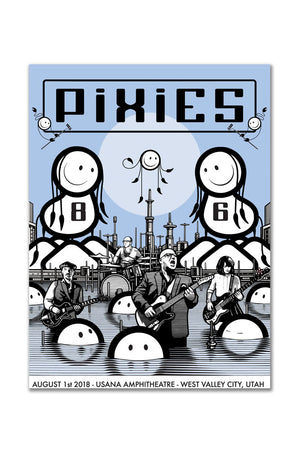 Pixies 8/1/2018 West Valley City, UT Event Poster