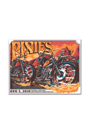 Pixies 8/3/2018 Bonner, MT Event Poster