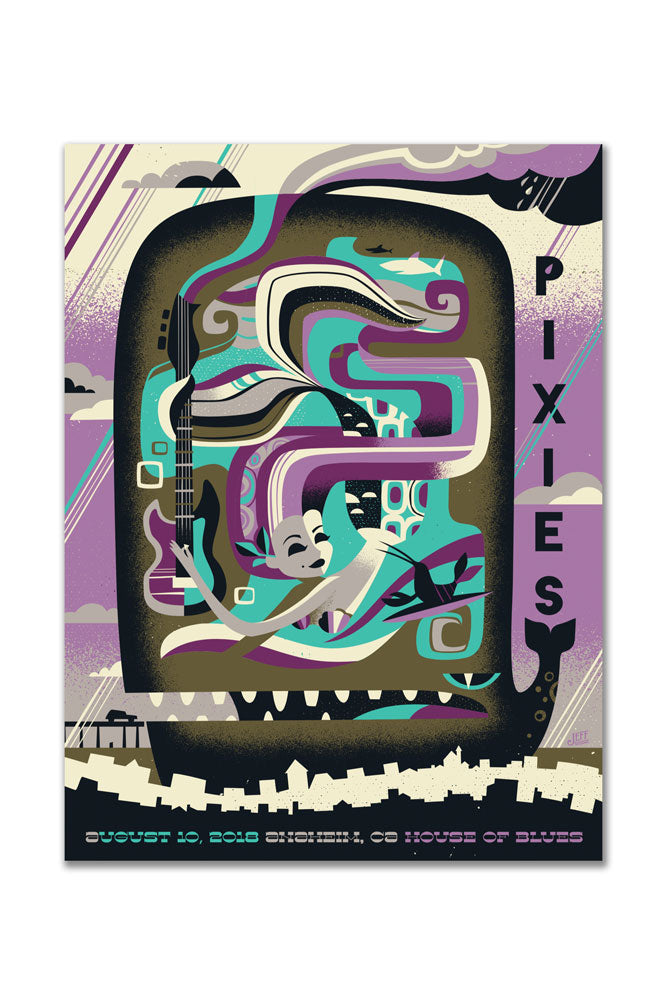 Pixies 8/10/2018 Anaheim, CA Event Poster