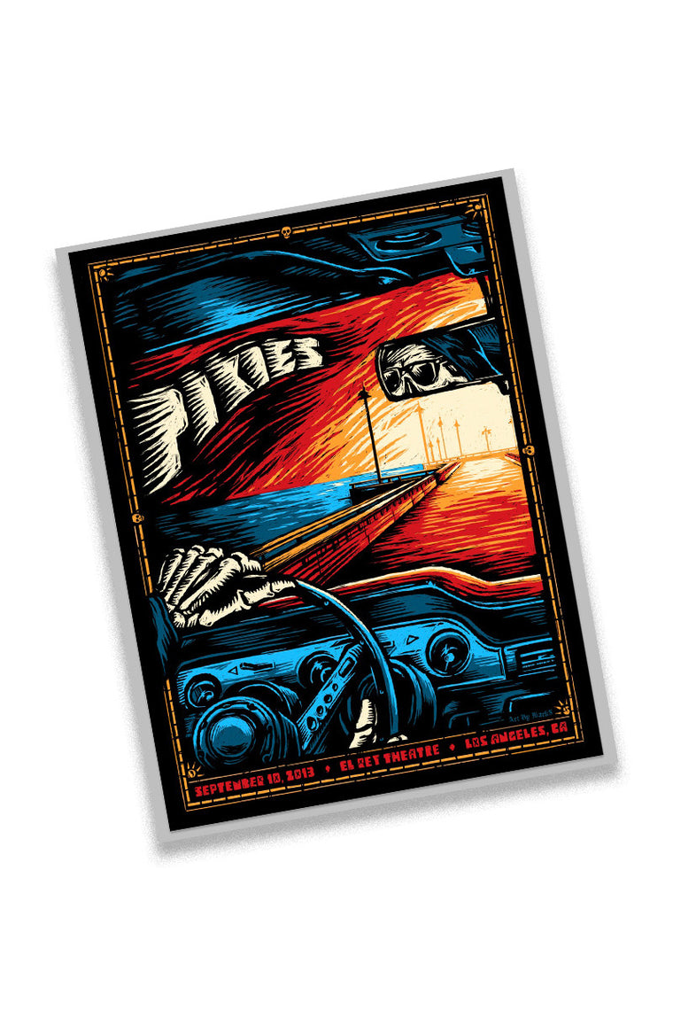 Pixies 9/10/13 Los Angeles Event Poster