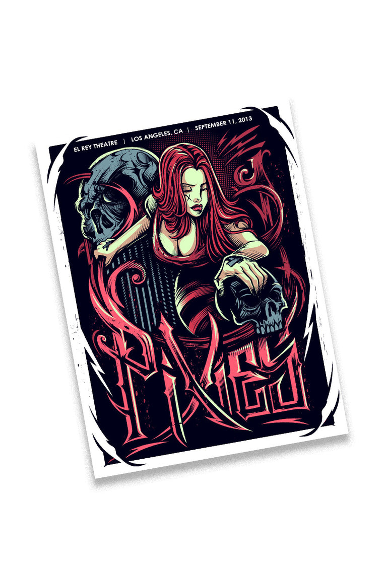 Pixies 9/11/13 Los Angeles Event Poster