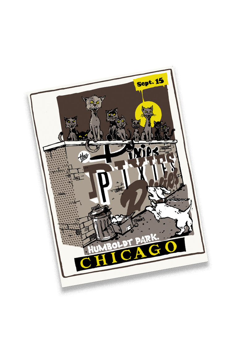 Pixies 9/15/13 Chicago Event Poster
