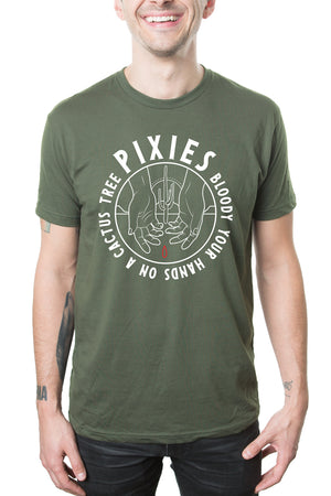 Pixies Cactus Tee Military Green