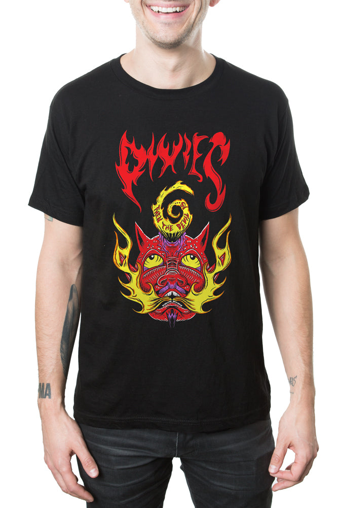 Pixies Devil is 6 Tee Black
