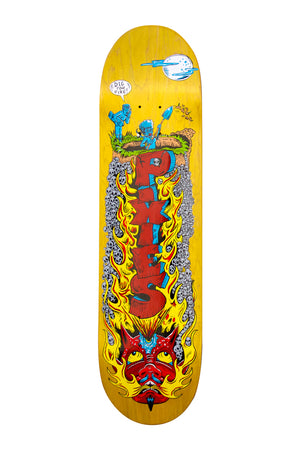 Pixies Digging For MPS Skate Deck - Yellow