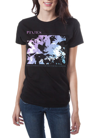 Pixies Flower Bed Tee Black