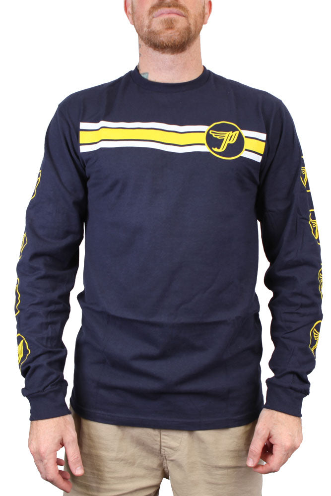 Pixies P Stripe Long Sleeve Tee Navy