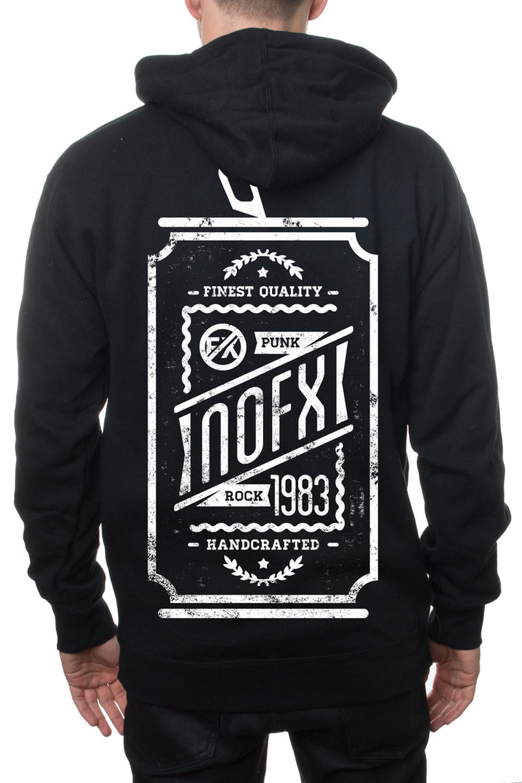 NOFX Beer Can Zip Hoodie Black