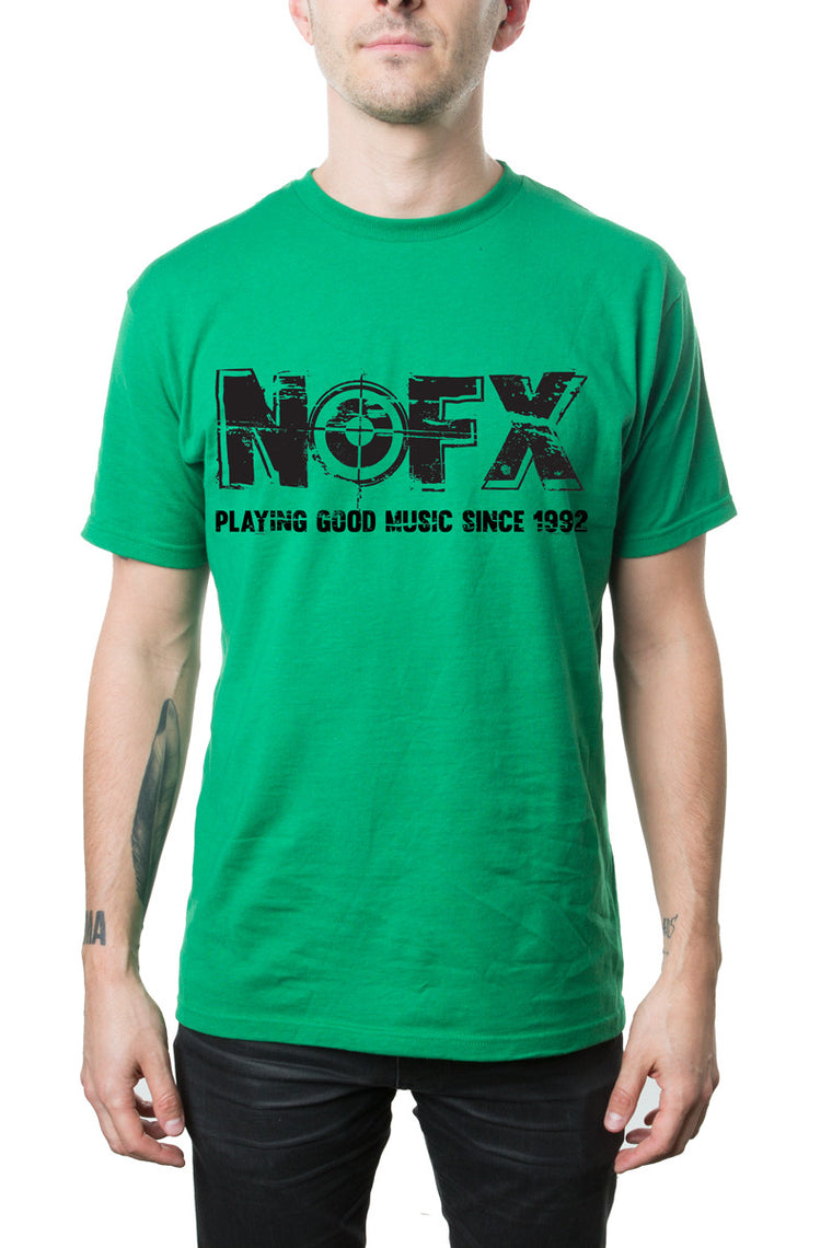 NOFX Good Music Tee Kelly Green