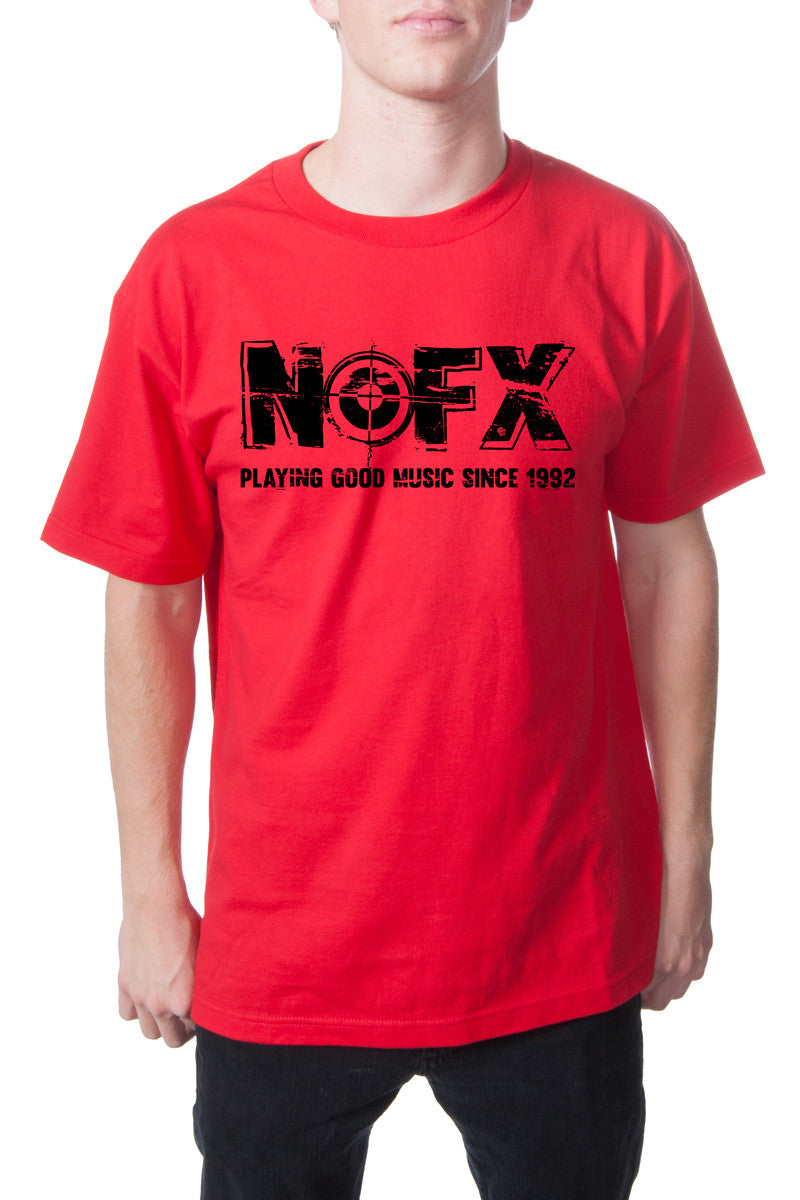 NOFX Good Music Tee Red