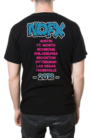 NOFX In The Can Tour Tee Black