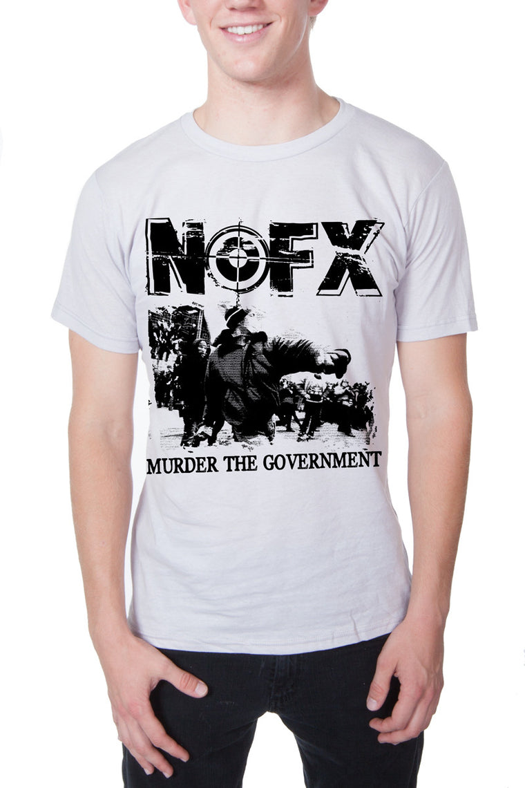 NOFX Murder the Government Tee White
