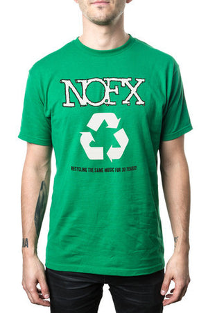 NOFX Recycle Tee Green