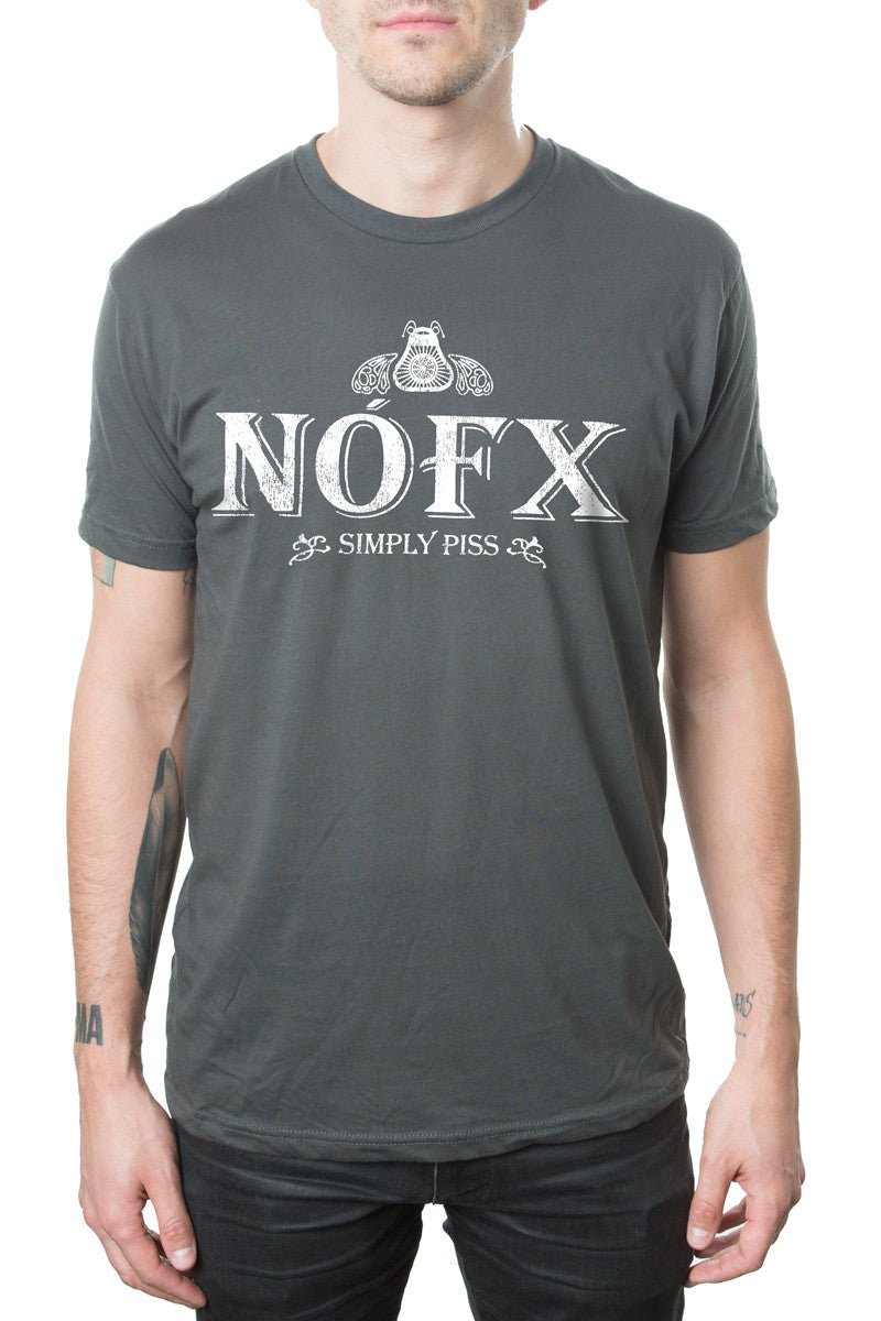 NOFX Simply Piss Tee Charcoal