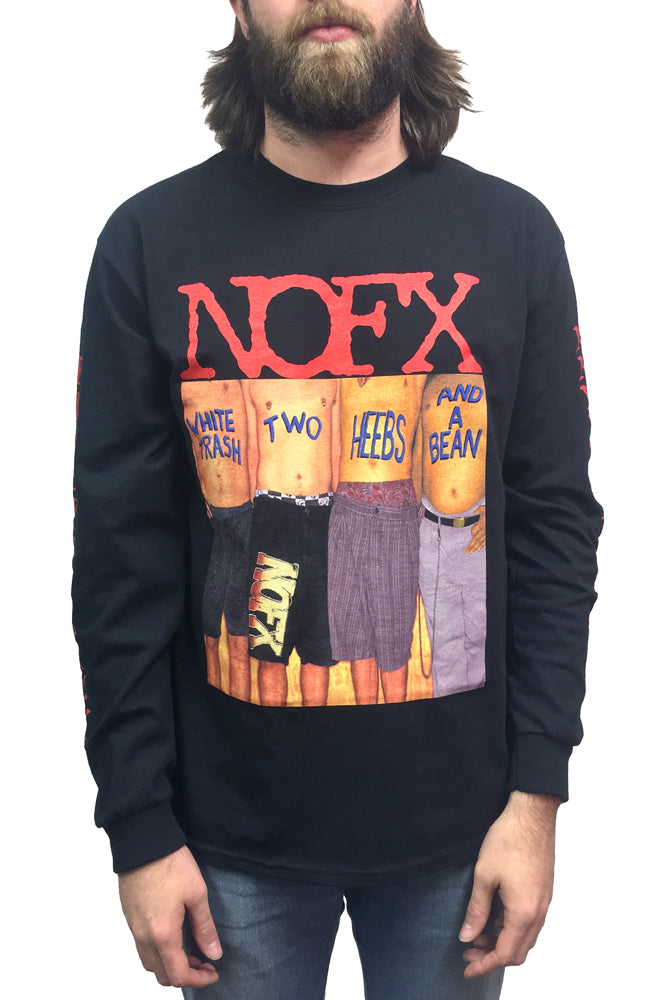 NOFX White Trash Longsleeve Tee Black
