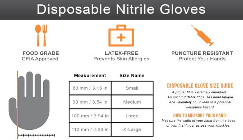 Disposable Glove Size Guide