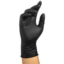 Load image into Gallery viewer, Black Nitrile Gloves (Box of 100)