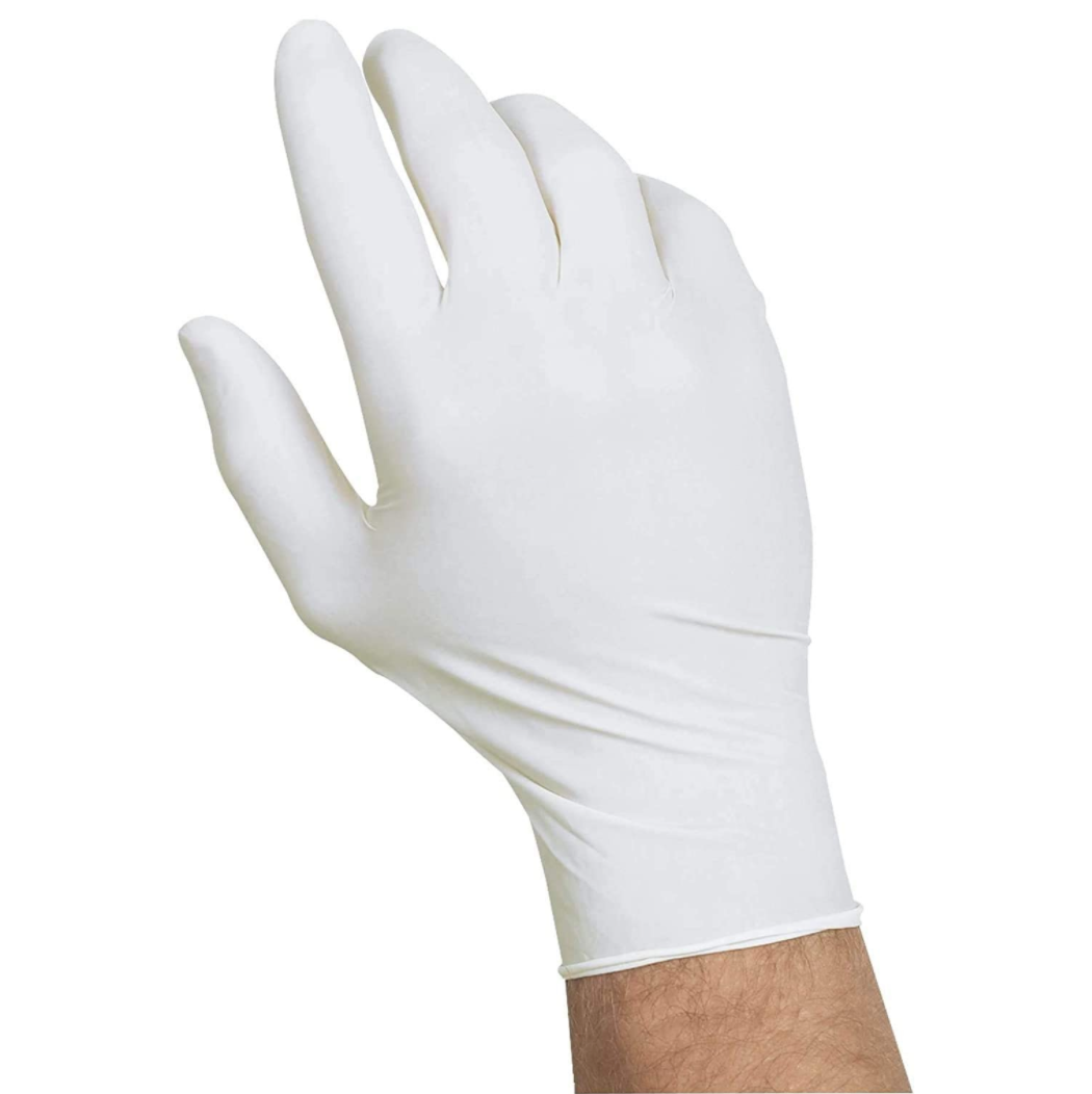 White Nitrile Gloves (Box of 100)