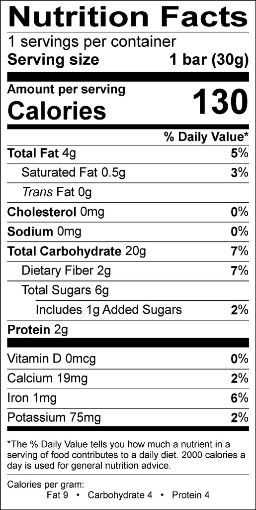 Mango Strawberry Jr., organic granola bar, 1.05 oz (6 bars/pack)