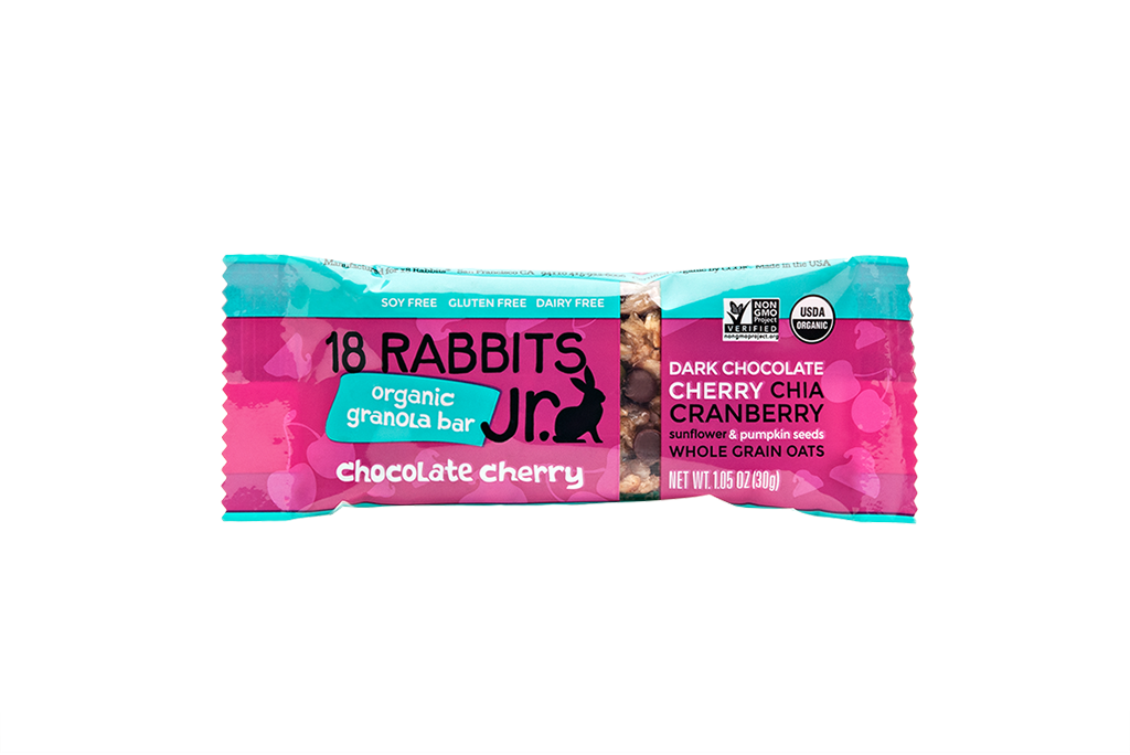 Chocolate Cherry Jr., organic granola bar 1.05 oz (6 bars/pack)