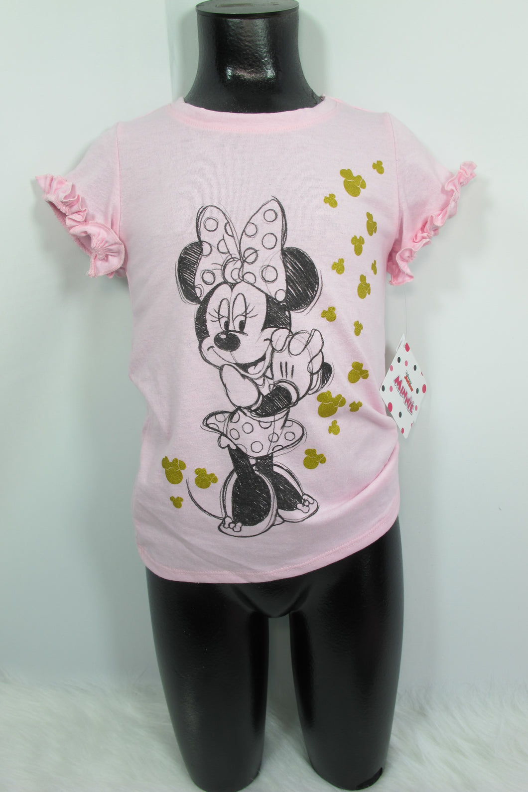 Little Girl's Pink Minnie Mouse Top