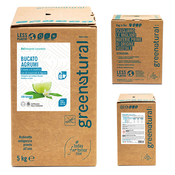 GREENATURAL Bucato AGRUMI - Bag-in-Box 5 kg
