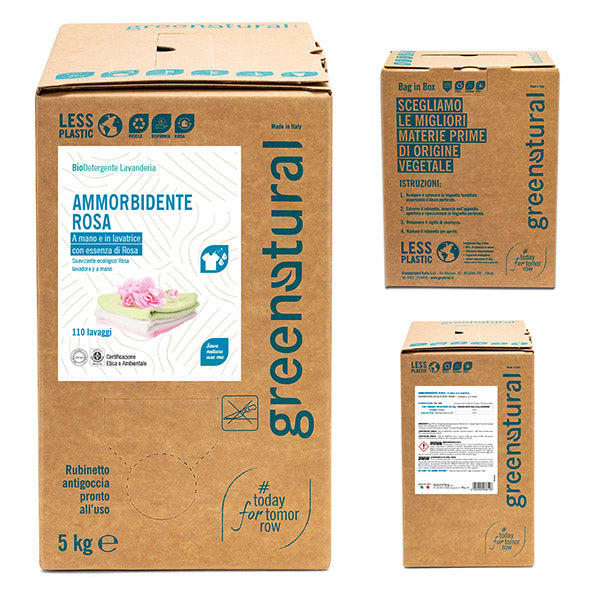 GREENATURAL Ammorbidente ROSA - Bag-in-Box 5 kg