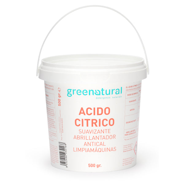 GREENATURAL Acido Citrico - Secchiello 2 Kg