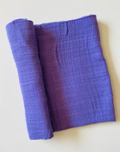 Load image into Gallery viewer, Purple Muslin Swaddle