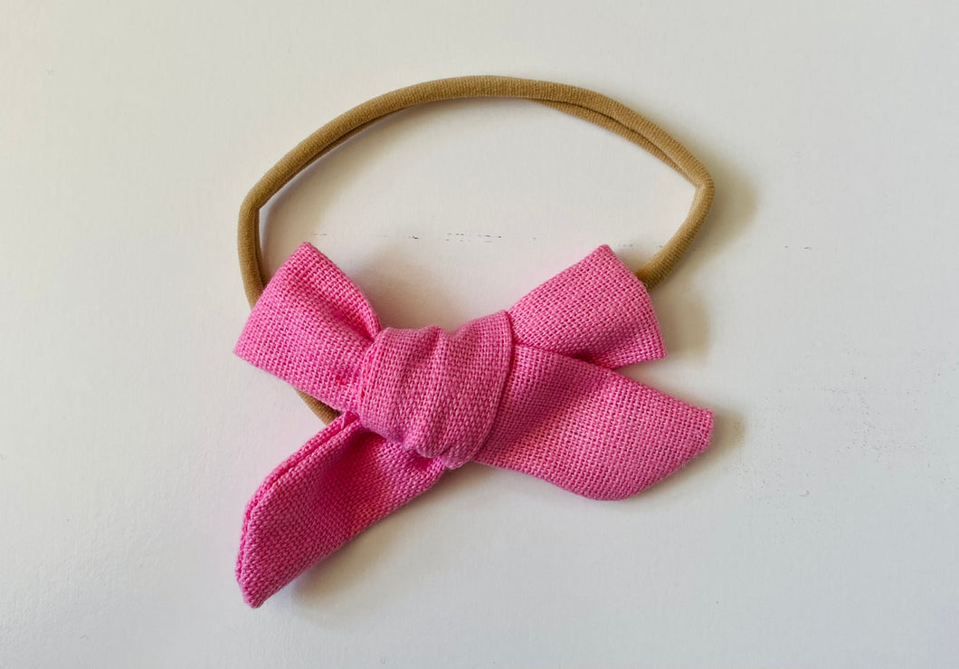 Pink Canvas Bow