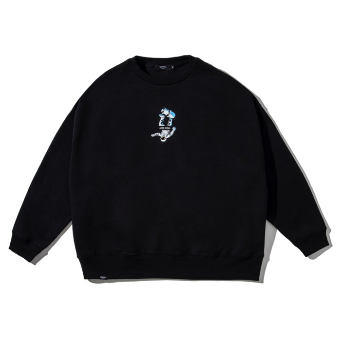 HEAVY CREWNECK SPACEBOY BLACK