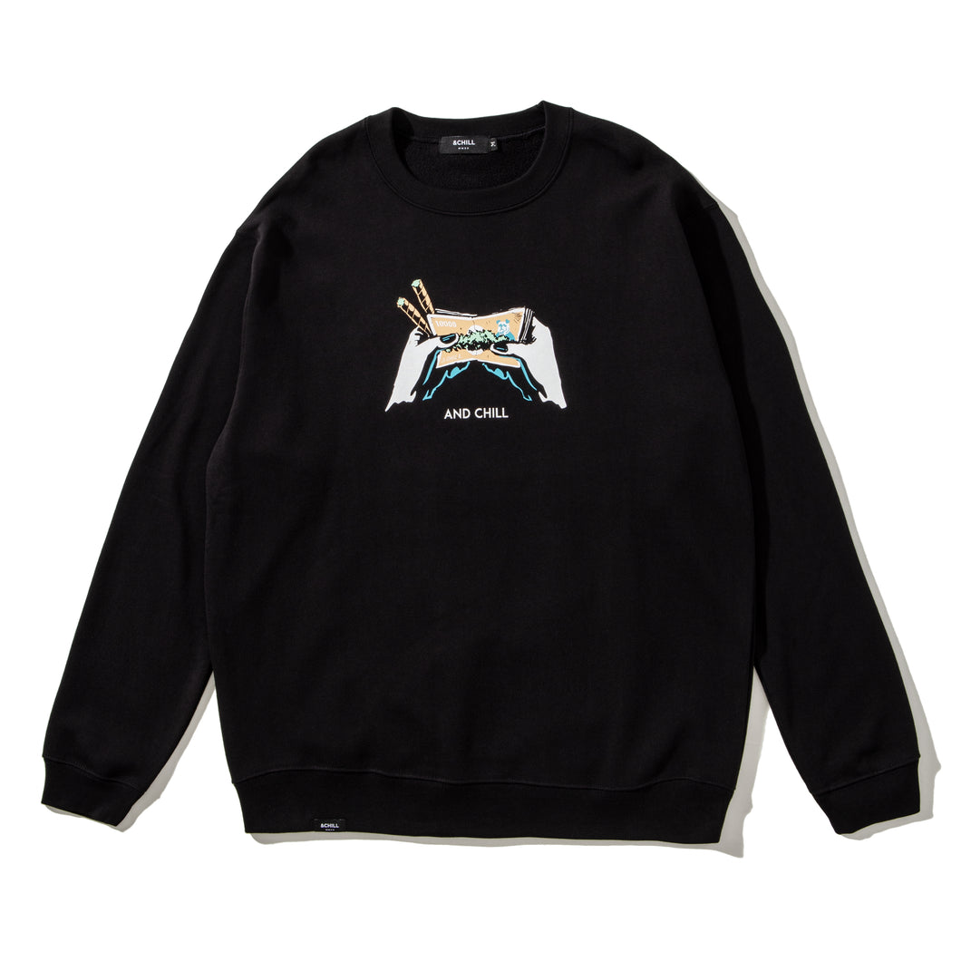 DOOBIE SKETCH CREWNECK BLACK