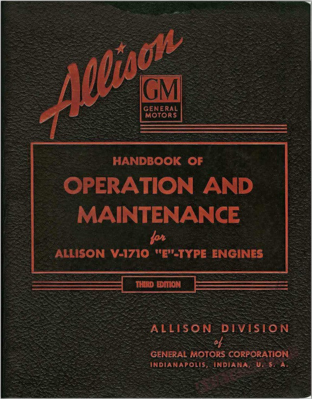 Allison Parts, Operation and Repair Manuals