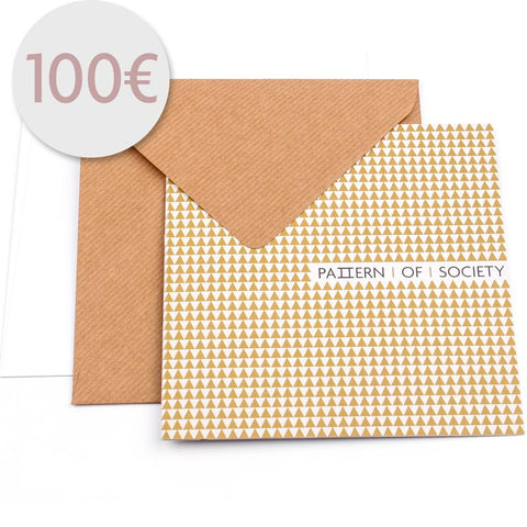 VOUCHER 100 € - KRAWATTE - EINSTECKTUCH - PATTERN OF SOCIETY