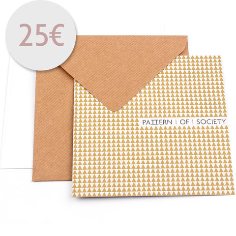 VOUCHER 25 € - KRAWATTE - EINSTECKTUCH - PATTERN OF SOCIETY