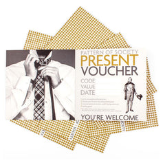 VOUCHER 100 € VOUCHER aus Wolle Seide mit schmaler Form PATTERN OF SOCIETY