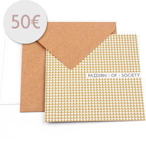 VOUCHER 50 € VOUCHER aus Wolle Seide mit schmaler Form PATTERN OF SOCIETY