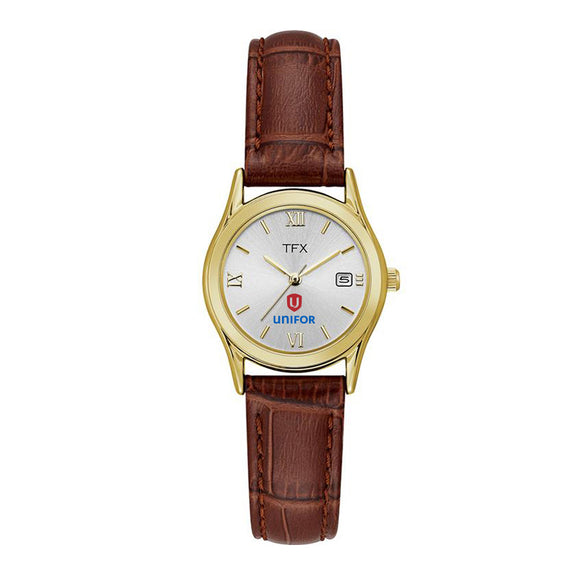 Unifor Women's TFX (By Bulova) Brown Leather Strap Watch - Unifor Store by Universal Promotions