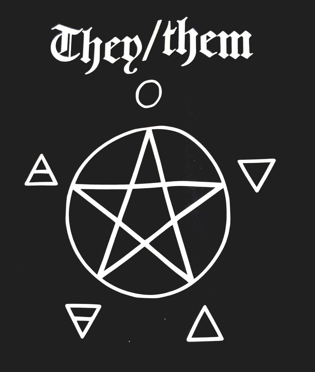wicca,nonbinary,gender,occult,gothic,non-binary,pentagram,pentacle,elements,goth,satanic,they_them,pronoun