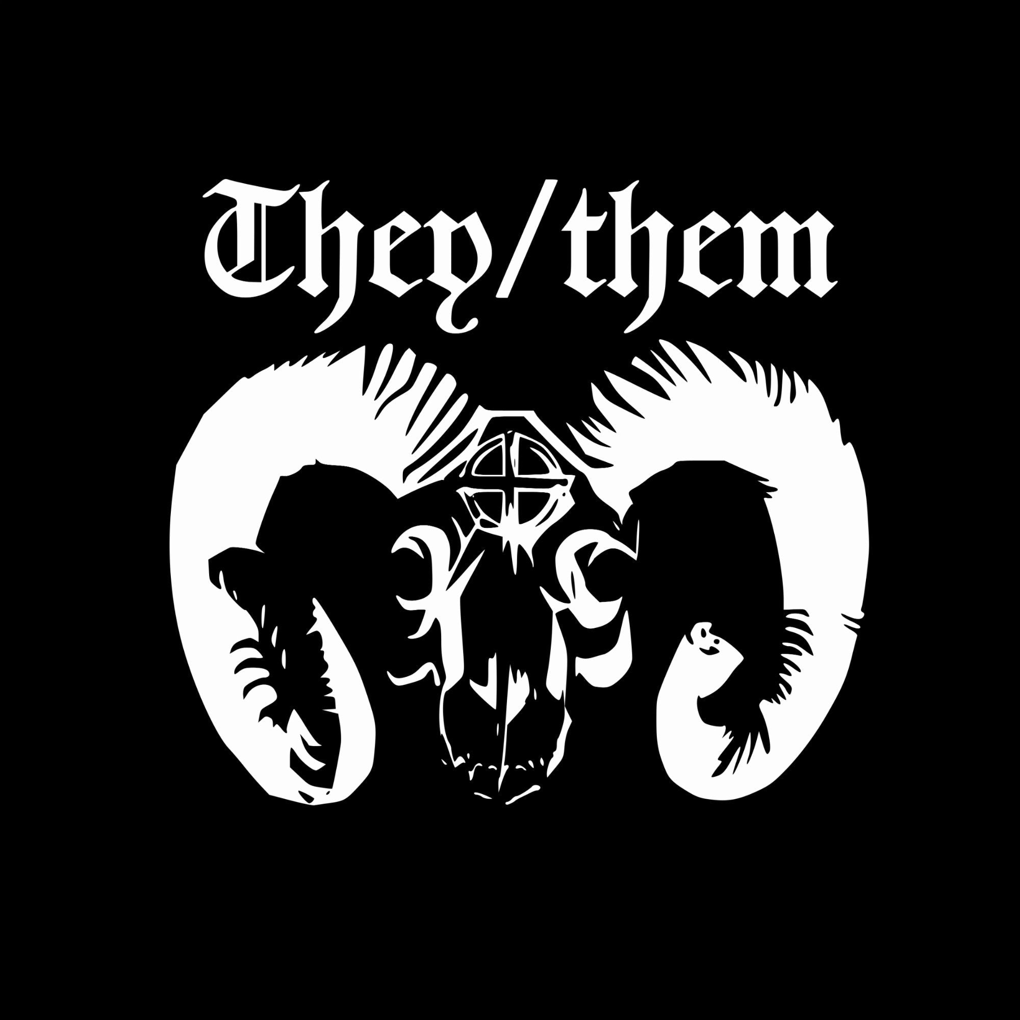Satanic Goat Pronouns tee - Customizable!